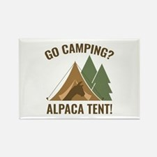 Alpaca Tent Rectangle Magnet