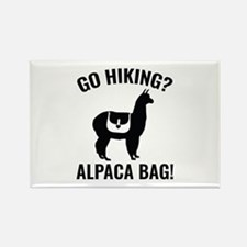 Go Hiking? Alpaca Bag! Rectangle Magnet