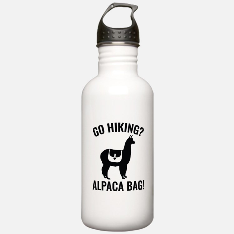 Go Hiking? Alpaca Bag! Water Bottle