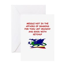 dragon humor on gifts and t-s Greeting Card