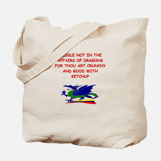 dragon humor on gifts and t-s Tote Bag