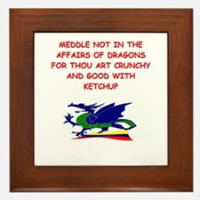dragon humor on gifts and t-s Framed Tile