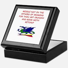 dragon humor on gifts and t-s Keepsake Box