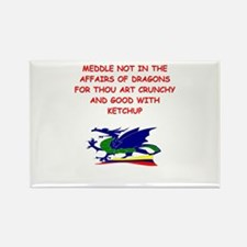 dragon humor on gifts and t-s Rectangle Magnet