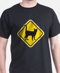 Cat Crossing T-Shirt