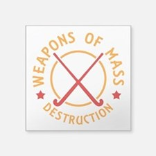 Field Hockey Weapons of Destruction Sticker