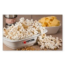 I Love Popcorn Decal