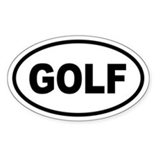 Basic Golf Oval Decal