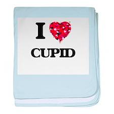 I love Cupid baby blanket