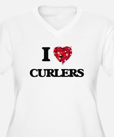I love Curlers Plus Size T-Shirt