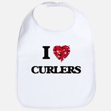 I love Curlers Bib