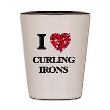 I love Curling Irons Shot Glass