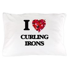 I love Curling Irons Pillow Case