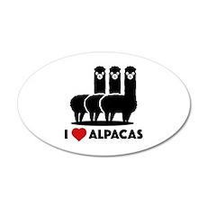 I Love Alpacas 22x14 Oval Wall Peel