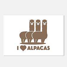 I Love Alpacas Postcards (Package of 8)