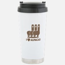I Love Alpacas Ceramic Travel Mug