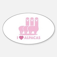 I Love Alpacas Decal