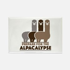 Prepare For The Alpacalypse Rectangle Magnet