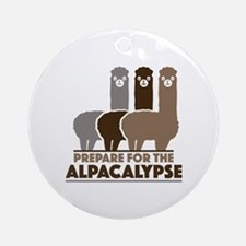 Prepare For The Alpacalypse Ornament (Round)