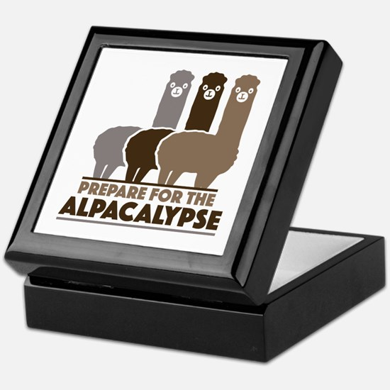 Prepare For The Alpacalypse Keepsake Box