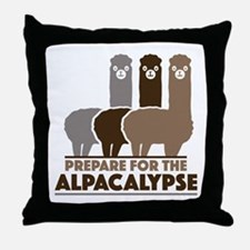 Prepare For The Alpacalypse Throw Pillow