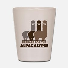 Prepare For The Alpacalypse Shot Glass