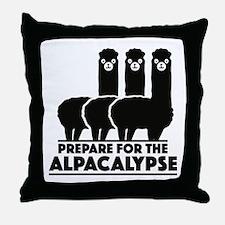 Prepare For The Alpacalypse Throw Pillow