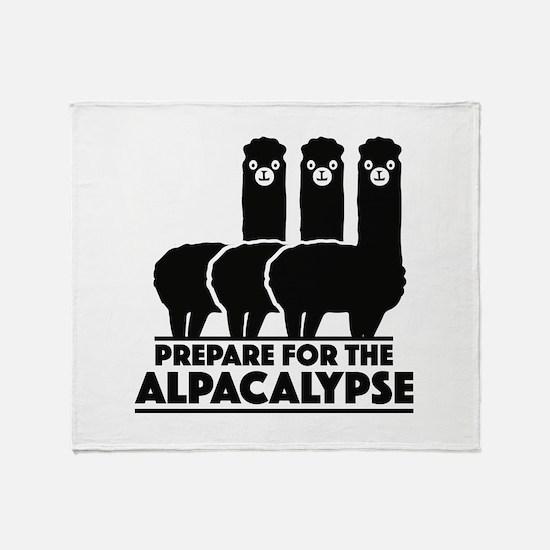 Prepare For The Alpacalypse Stadium Blanket