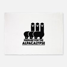 Prepare For The Alpacalypse 5'x7'Area Rug