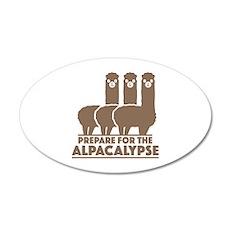 Prepare For The Alpacalypse 22x14 Oval Wall Peel