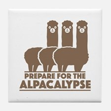Prepare For The Alpacalypse Tile Coaster