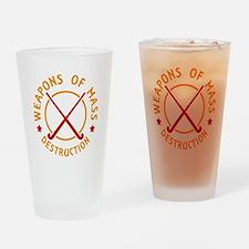 Field Hockey Weapons of Destruction Drinking Glass