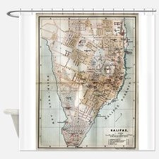 Vintage Map of Halifax Nova Scotia Shower Curtain