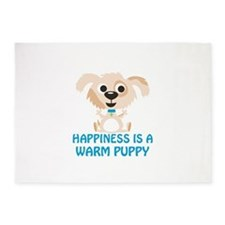 Happiness Is A Warm Puppy 5'x7'Area Rug