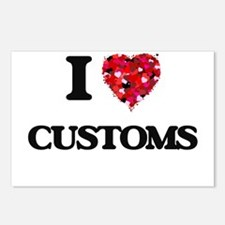 I love Customs Postcards (Package of 8)