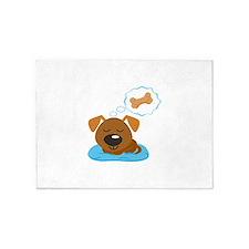 DOG BONE DREAMS 5'x7'Area Rug