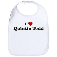 I Love Quintin Todd Bib