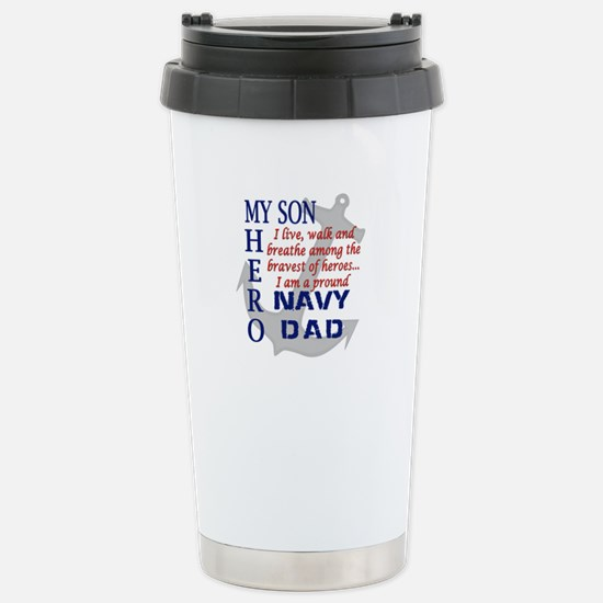 Navy Dad Stainless Steel Travel Mug