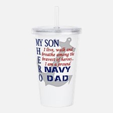 Navy Dad Acrylic Double-wall Tumbler