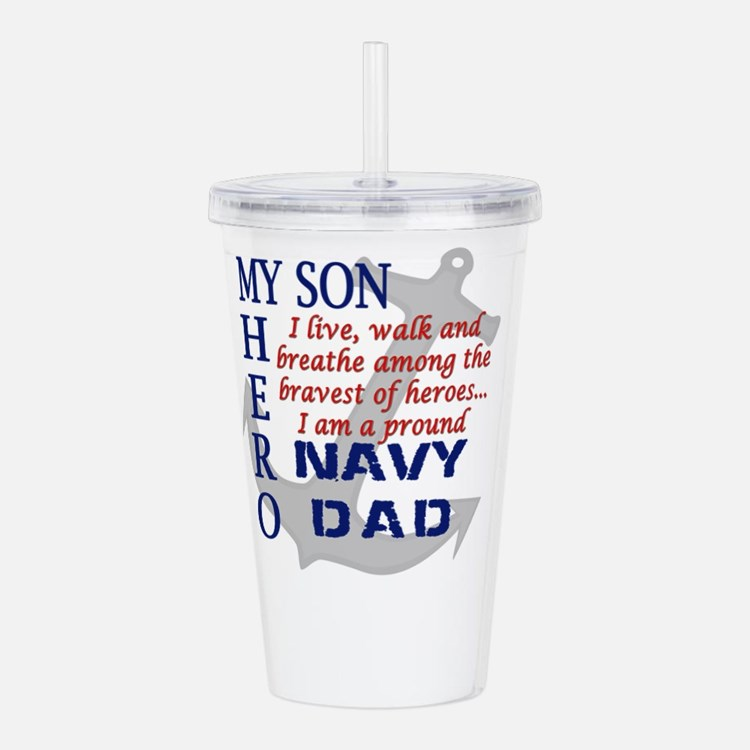 Navy Dad Acrylic Double-wall Tumbler