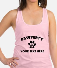 Personalized Dog Pawperty Racerback Tank Top
