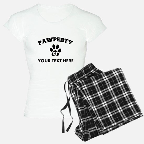 Personalized Dog Pawperty pajamas