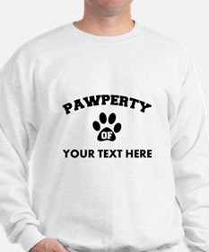 Personalized Dog Pawperty Sweater