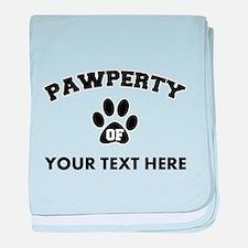 Personalized Dog Pawperty baby blanket