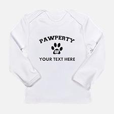 Personalized Dog Pawper Long Sleeve Infant T-Shirt