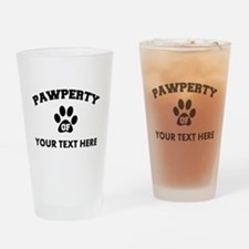 Personalized Dog Pawperty Drinking Glass