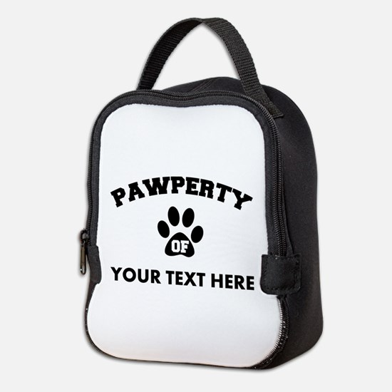 Personalized Dog Pawperty Neoprene Lunch Bag