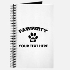 Personalized Dog Pawperty Journal