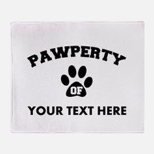 Personalized Dog Pawperty Throw Blanket
