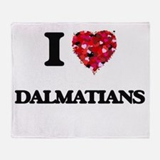 I love Dalmatians Throw Blanket